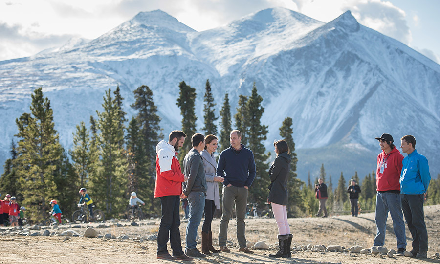 The royal couple travelled to Montana mountain, infamously known for it mountain biking trails. They met many local families and enjoyed a community biking festival.