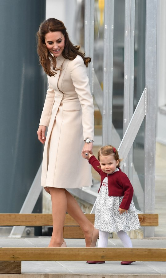 Kate, meanwhile, held on to Princess Charlotte – first carrying her, then later holding her hand tightly as they made their way to the seaplane.