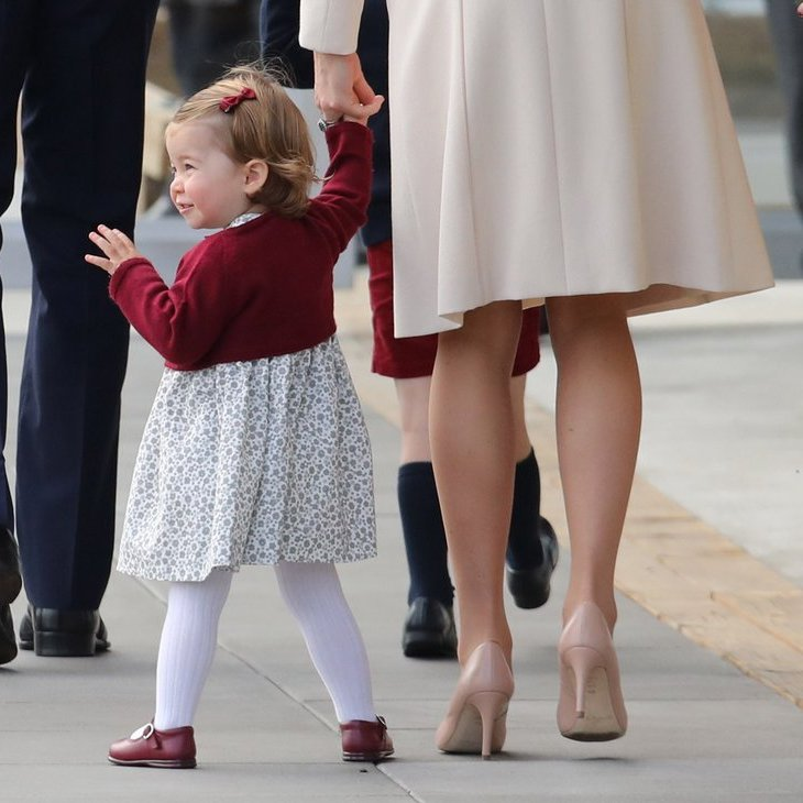 Although one-year-old Princess Charlotte initially seemed confused by the attention, she soon began to enthusiastically wave to the crowds.
