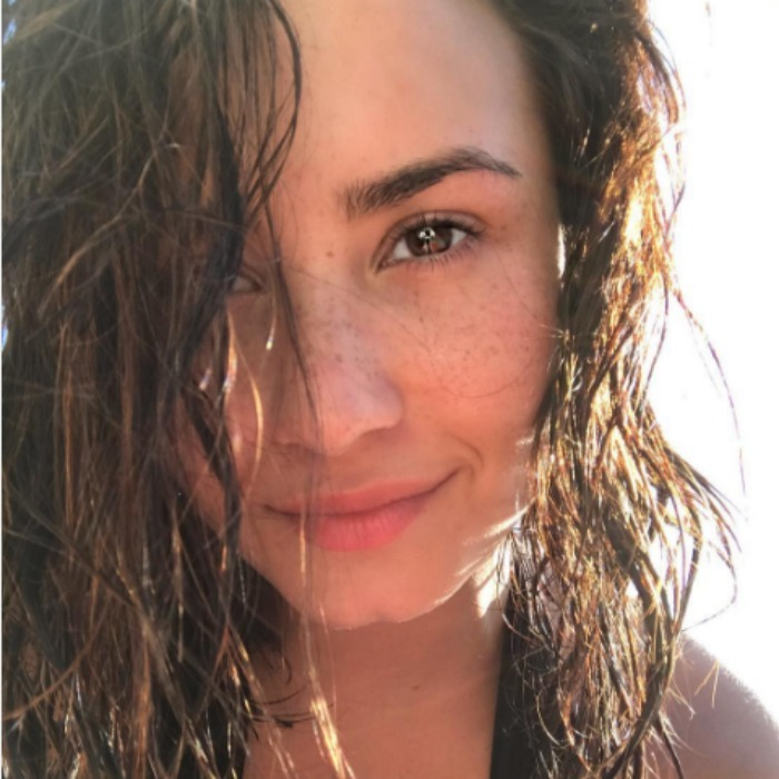"Fans adored the freckles that were showing through in this makeup free shot of <a href=""http://us.hellomagazine.com/tags/1/demi-lovato/""><strong>Demi Lovato</strong></a>.
