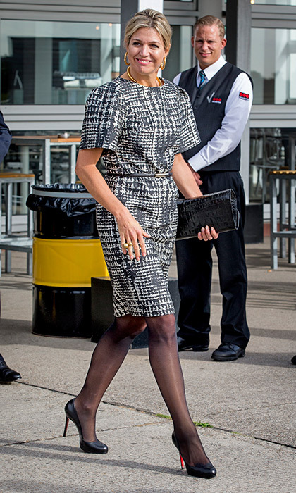 Queen Maxima looked stylish as she attended the Future of Finance conference organized by FMO the Dutch Development Bank in Katwijk, the Netherlands.