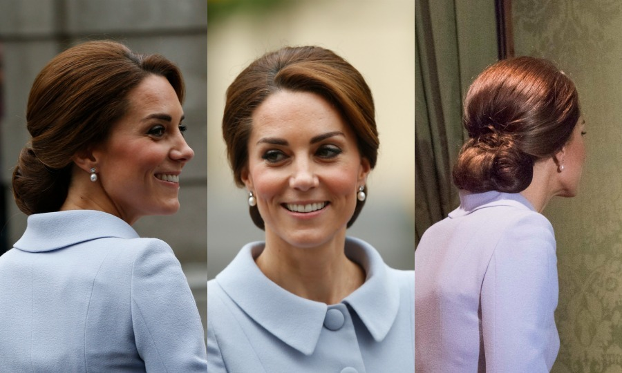 The Duchess of Cambridge is certainly a style icon for her ultra-stylish wardrobe – but let's talk about those tresses! Click through for a gallery of Kate's all-time best hairstyles from abroad.