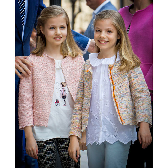 Twinning in tweed! The stylish sisters stepped out in colorful jackets for 2016 Easter mass with their family.
