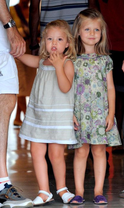 The little Spanish royals looked adorable while at the 2010 Copa Del Rey Regatta with their family.