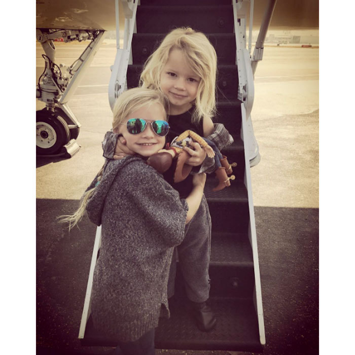 "Sibling love! Jessica Simpson treated fans to a sweet photo of her daughter Maxwell and son Ace embracing each other with a hug before boarding a flight. Attached to the picture, the singer wrote, ""Up Up and Away #maxidrew #aceknute.""