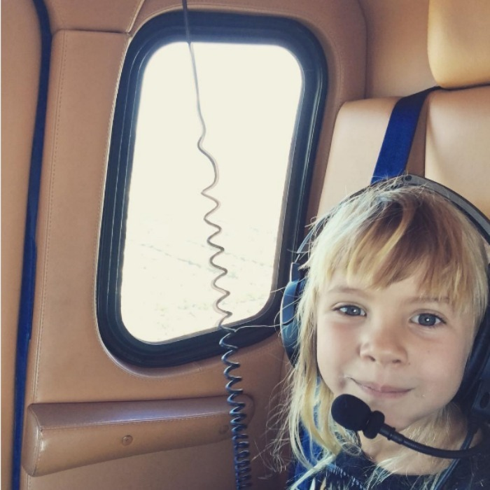 "Pink and Carey Hart's daughter took a special flight with the Grammy award winning singer sharing it on her Instagram. ""Captain Willow,"" Pink captioned the sweet pick that shows her adorable five-year-old enjoying life in the sky. 