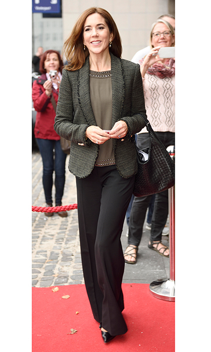When budget-savvy professionals feel the need for tweed, they head to Zara – just like Crown Princess Mary of Denmark, who rocked one of the retailer's famed tailored jackets at a 2014 conference in Copenhagen. 