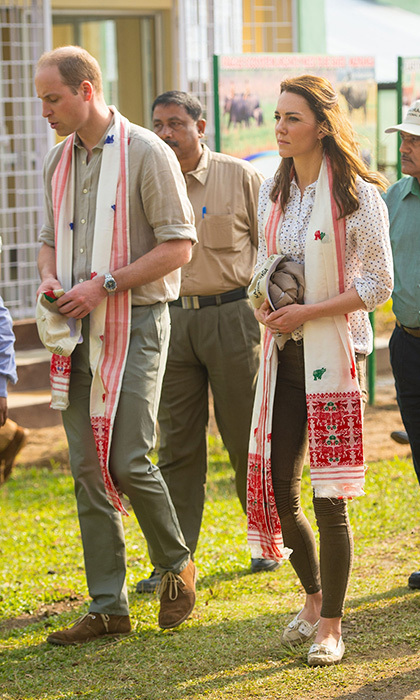 The Duchess of Cambridge showed she's just like us when she wore many a woman's wardrobe staple – skinny jeans from Zara – for a safari in India. 