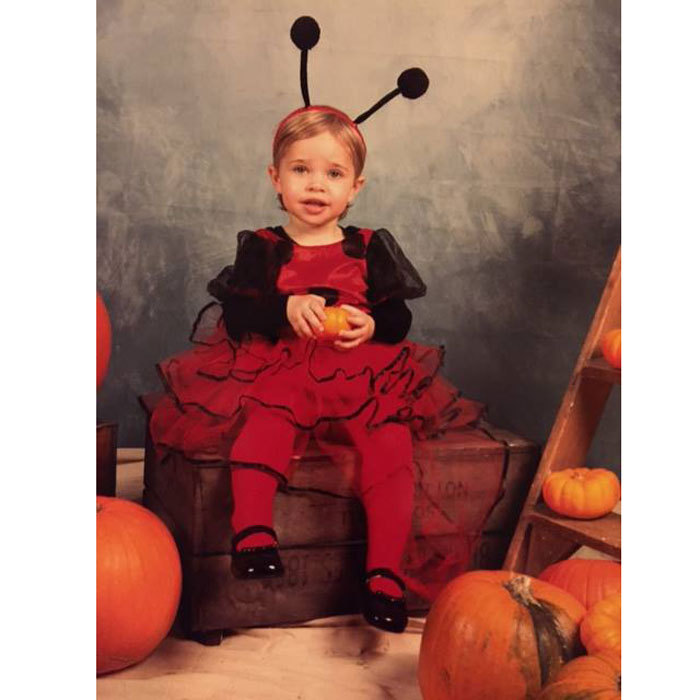 "<a href=""http://us.hellomagazine.com/tags/1/princess-leonore/""><strong>Princess Leonore</strong></a> looked cute as a bug posing in a red-frilled costume complete with an antenna headband for her 2015 Halloween photo.