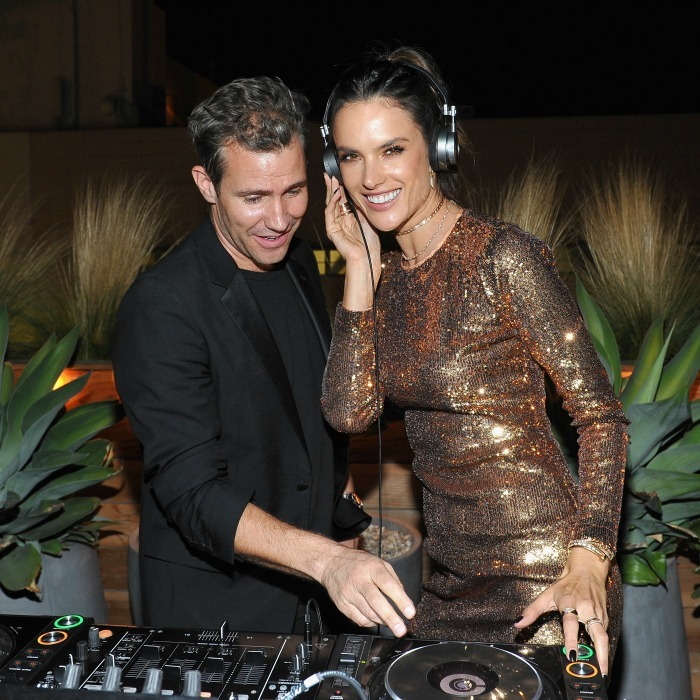October 19: Turn it up!  Alessandra Ambrosio joined DJ Zen on the turntables during the Ale by Alessandra X REVOLVE launch at Revolve Social Club in L.A. 
