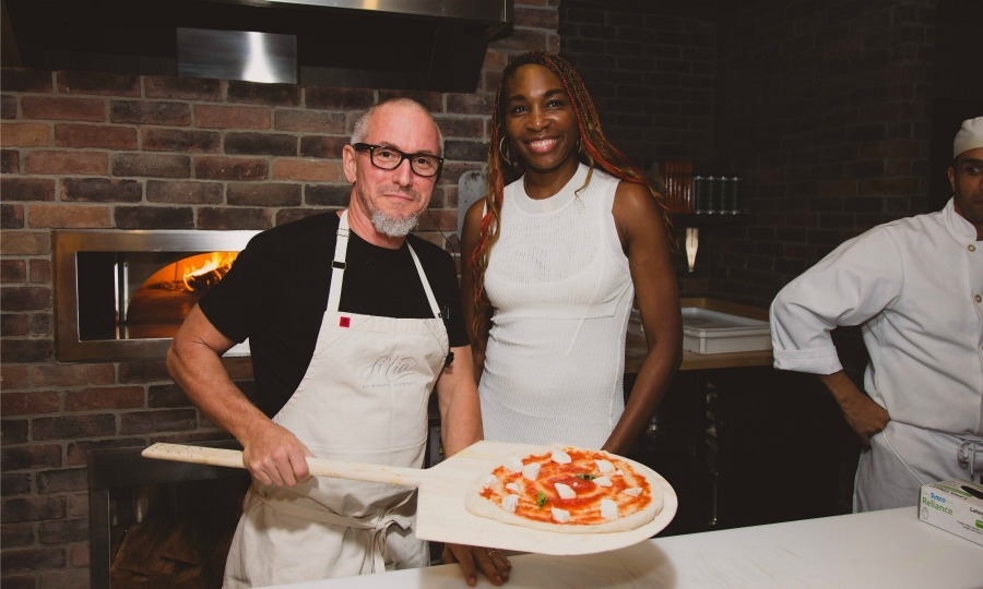 October 20: Venus Williams showed off her skills in the kitchen with Chef Michael Schwartz at a preview of Fi'lia at SLS Brickell Hotel & Residences in Miami.