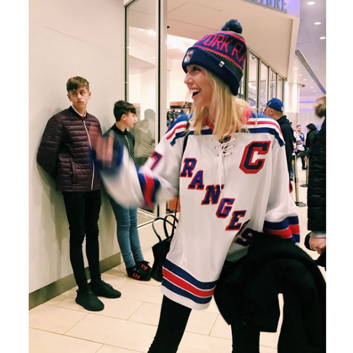 "Princess Olympia donned her New York Rangers hockey gear for a Sunday game with her family. Alongside the Instagram photo, the Greek royal admitted, ""Number one fan over here.""
