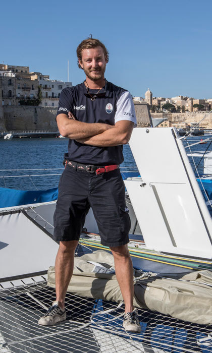 Pierre Casiraghi attended the Rolex Middle Sea Race with the Maserati Multi70 in Malta.