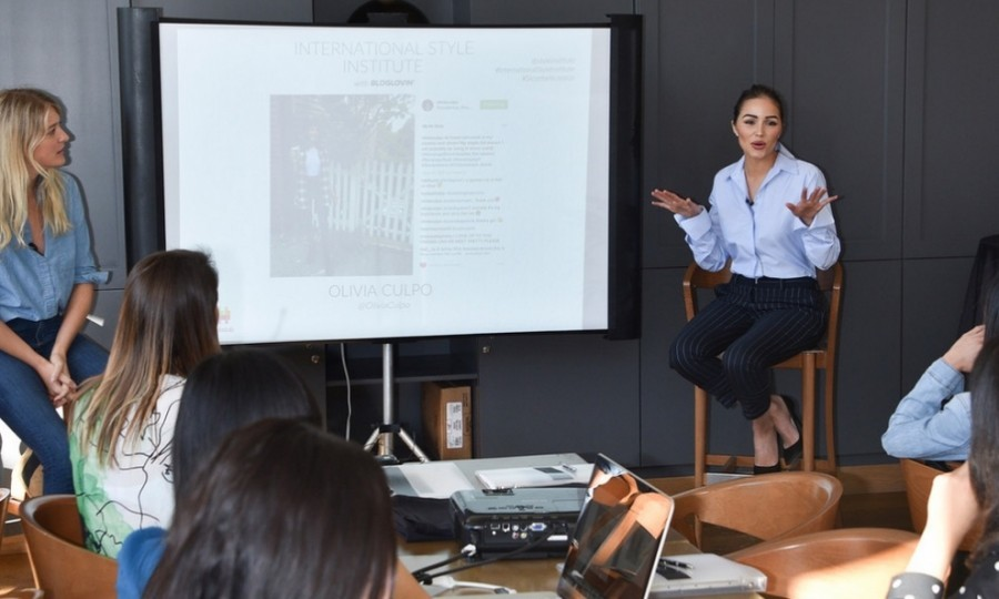 October 21: Olivia Culpo gave advice on growing your brand with the help of social media during the International Style Institute presented by Anita Patrickson and Simply Inc. at the Grove in L.A.