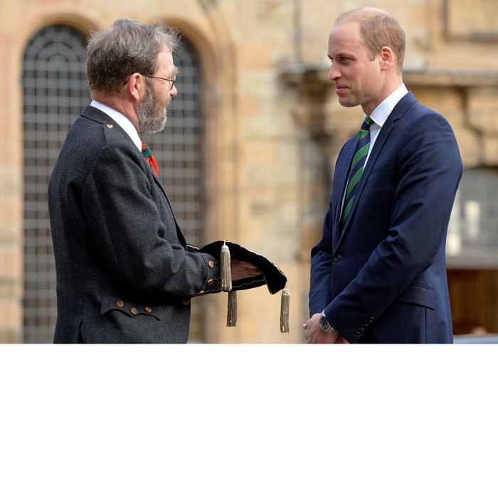 "Prince William, who is known as the Earl of Strathearn in Scotland, was presented with the Keys to Stirling Castle by the Hereditary Keeper of the Castle. Discussing the  importance of the Argylls Museum at the castle, the royal said: ""We are the guardians of that memory, of their contribution and of their sacrifices.""