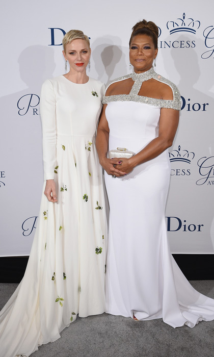 Hollywood and royalty collided at the gala, which was presented by Christian Dior Couture. Princess Charlene posed for a photo with actress Queen Latifah, who was honored with the Prince Rainier III Award.