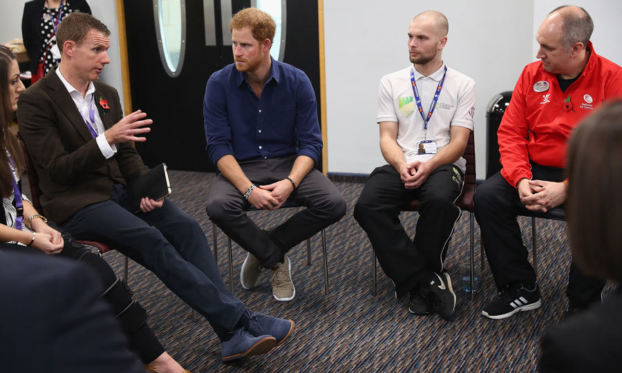"Prince Harry asked if coaches needed to learn how to skate to teach the students. ""I might just stand on the sidelines,"" he confessed. ""It's the easiest way.""