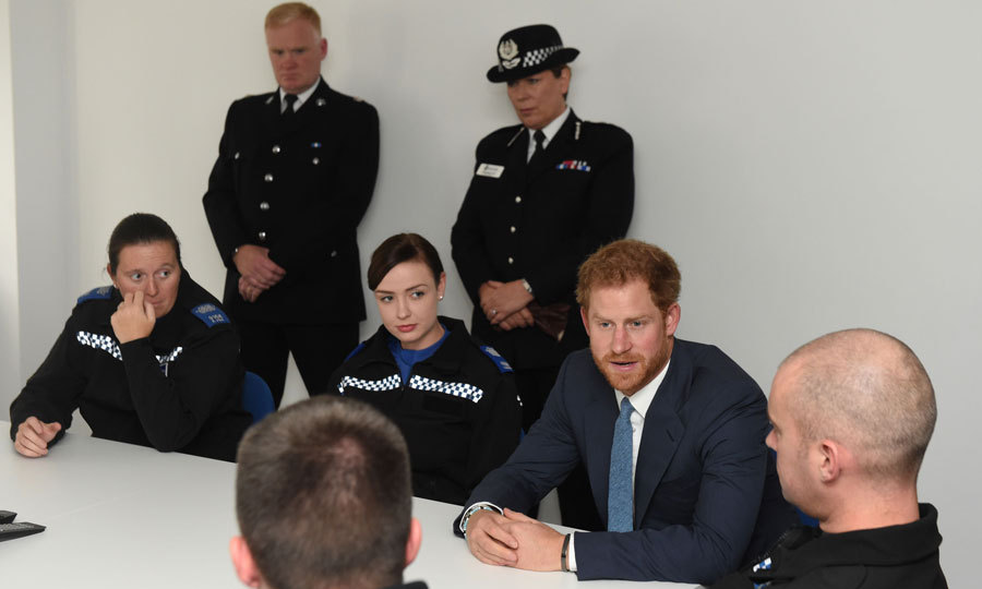 Harry attended a police briefing to learn bout the issues that are affecting people in Nottingham communities.