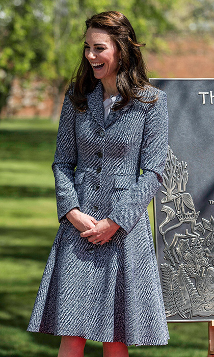 Kate chose American designer Michael Kors for her royal visit to Hampton Court Palace.