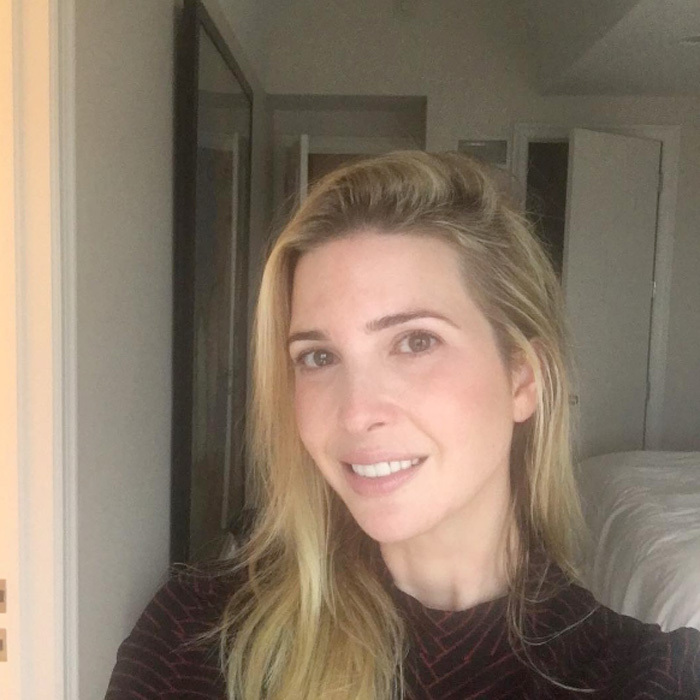 "First Daughter <a href=""http://us.hellomagazine.com/tags/1/ivanka-trump/""><strong>Ivanka Trump</strong></a> is known for her polished style – here she is in a rare public no-makeup moment.