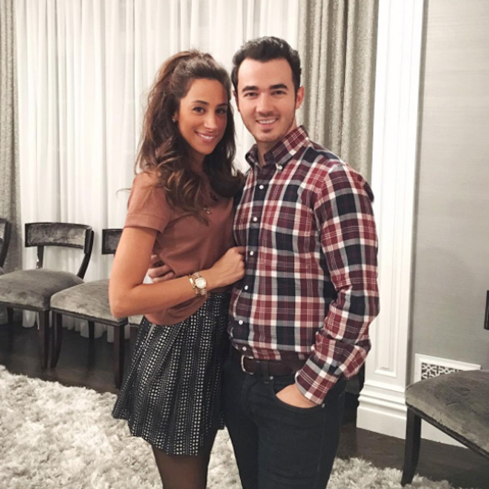 "More like the <i>Jonas Sisters</i>!. Former boy bander Kevin Jonas and his wife Danielle welcomed their second child together, daughter Valentina, on October 27. Following her birth, Nick Jonas' brother tweeted, ""Valentina is happy and healthy.  I'm so in love."" He later added, ""Looking at baby v and you guys don't understand how pretty she is."" 