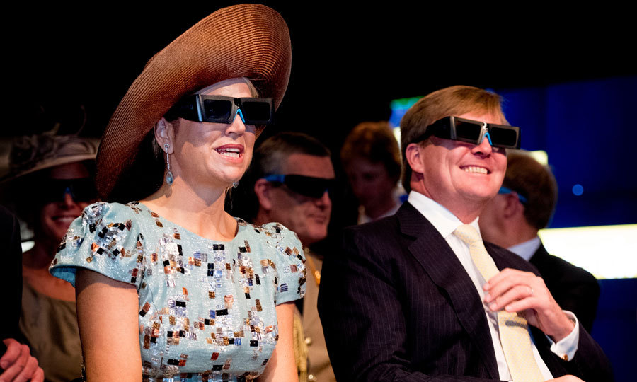 Nothing shady here! The Dutch royals donned glasses for a video presentation at Curtin University in Perth, Australia.