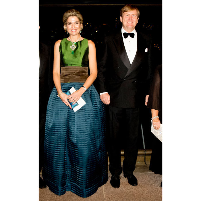 Queen Maxima wowed alongside her husband King Willem-Alexander, donning a full-length gown to a concert at the Sydney Opera House in Australia.