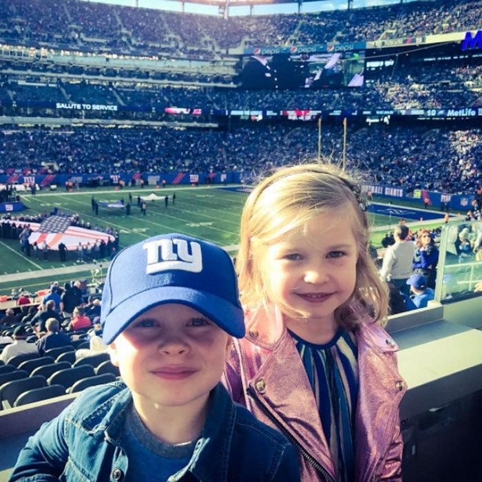 "Neil Patrick Harris' twins looked ready for some football! The <i>Series of Unfortunate Events</i> actor took his son Gideon and daughter Harper to their first NFL game on Sunday, November 6 to cheer on their team, the New York Giants. Neil shared a photo from the family outing, writing, ""First football game for these two (not quite) giants. Go Big Blue! #nygiants.""
