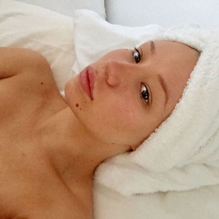 "<a href=""http://us.hellomagazine.com/tags/1/Iggy-Azalea/""><strong>Iggy Azalea</strong></a> looking serene on a spa day.