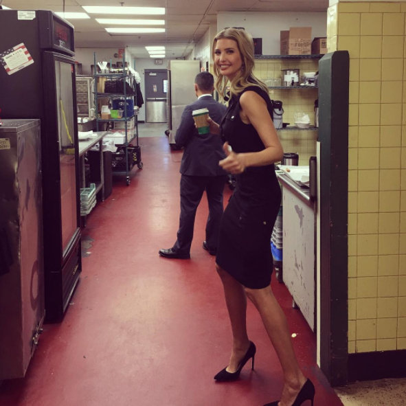 Ivanka shared this 'on the run' candid in Pennsylvania Photo ...