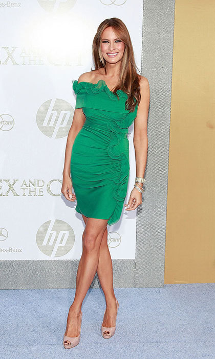 The former model kept it fun in a green frilled mini at the 2010 premiere of <i>Sex and the City 2</i> in New York City. 