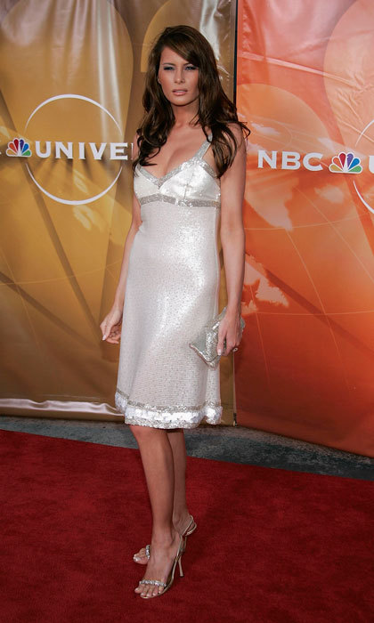 The President-elect's wife shined in a metallic number at the 2004 NBC TCA All - Star Party in Los Angeles.