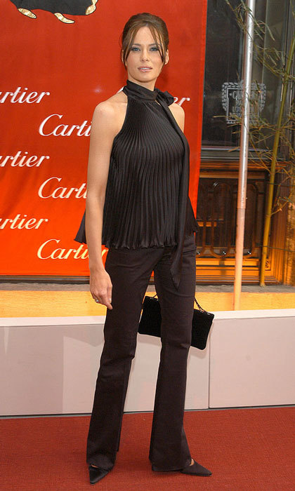 The tycoon's wife wore a chic shoulder-baring halter for a 2003 event at the Cartier Mansion in New York City.