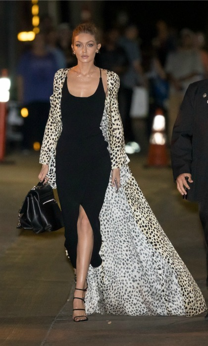 "November 9: <a href=""http://us.hellomagazine.com/tags/1/gigi-hadid/""><strong>Gigi Hadid</strong></a> didn't mind letting her coat trail behind her as she turned the streets of L.A. into her own private runway ahead of taping <i>Jimmy Kimmel Live</i>. 