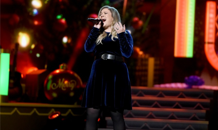 "November 8: Sounds like Christmas! <a href=""http://us.hellomagazine.com/tags/1/kelly-clarkson/""><strong>Kelly Clarkson</strong></a> performed during the CMA 2016 Country Christmas taping in Nashville. 