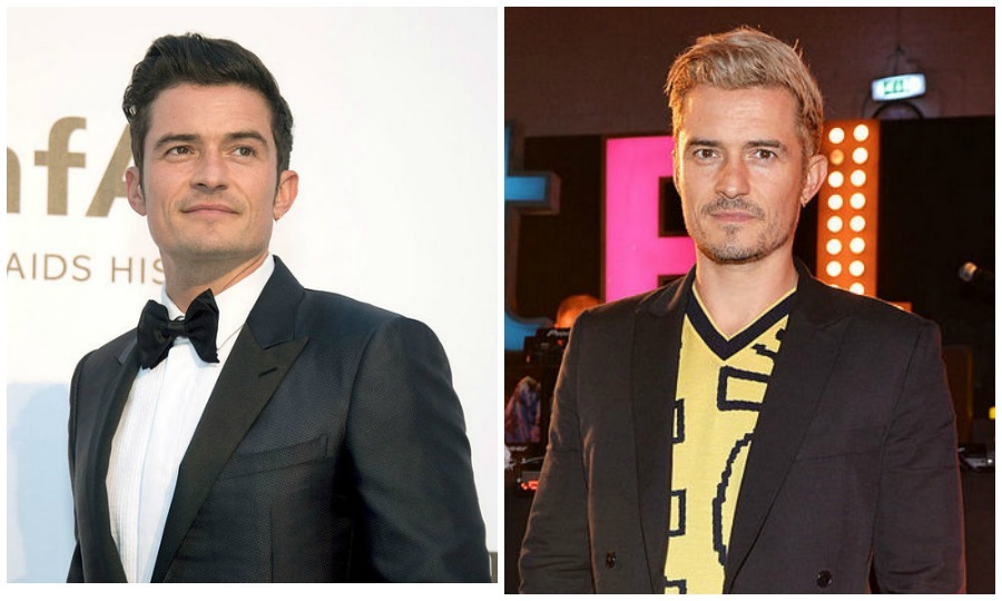 <b>Orlando Bloom</b> tried out light-hued locks, right, in November 2016.