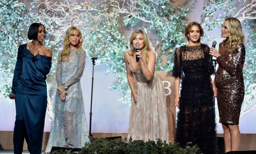 November 12: Hot mamas! Kelly Rowland, Rachel Zoe, Kate Hudson, Jessica Alba and Molly Sims spoke onstage during the Baby2Baby Gala, Presented By John Paul Mitchell Systems in Culver City. 