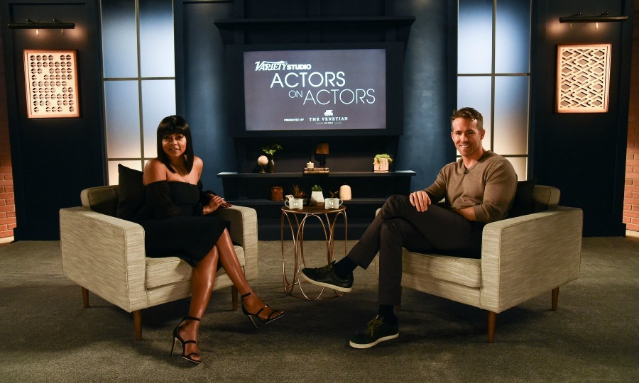 November 12: Taraji P. Henson and Ryan Reynolds hammed it up during their taping of <i>Variety Studios: Actors on Actors</i> presented by The Venetian Las Vegas in L.A. 