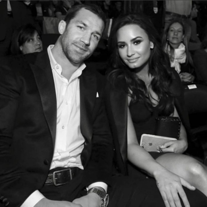 <b>Demi Lovato and Luke Rockhold</b>
