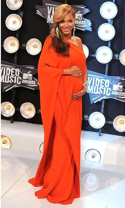 "Pregnant with daughter <a href=""http://us.hellomagazine.com/tags/1/blue-ivy/""><strong>Blue Ivy</strong></a>, <a href=""http://us.hellomagazine.com/tags/1/beyonce/""><strong>Beyonce</strong></a> made quite an impact in her orange gown at the 28th Annual MTV Video Music Awards in 2011. 