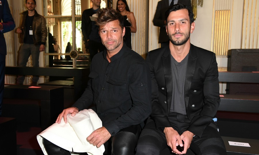 <b>Ricky Martin and Jwan Yosef</b>
