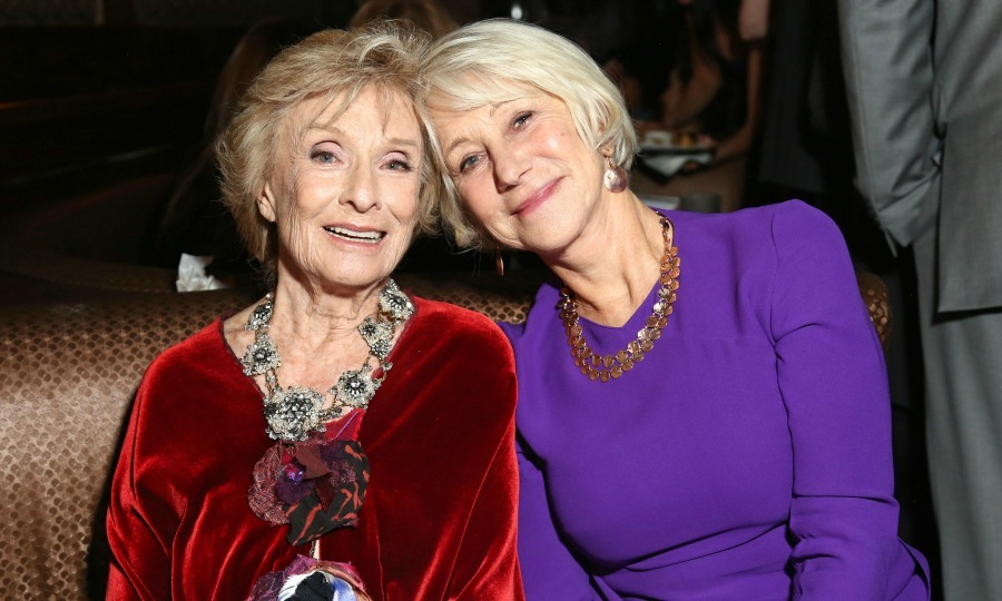 November 11: Helen Mirren and Cloris Leachman got close for a photo during </i> The Comedian</i> after party hosted by Maestro Dobel Tequila at Pig N' Whistle in Hollywood.