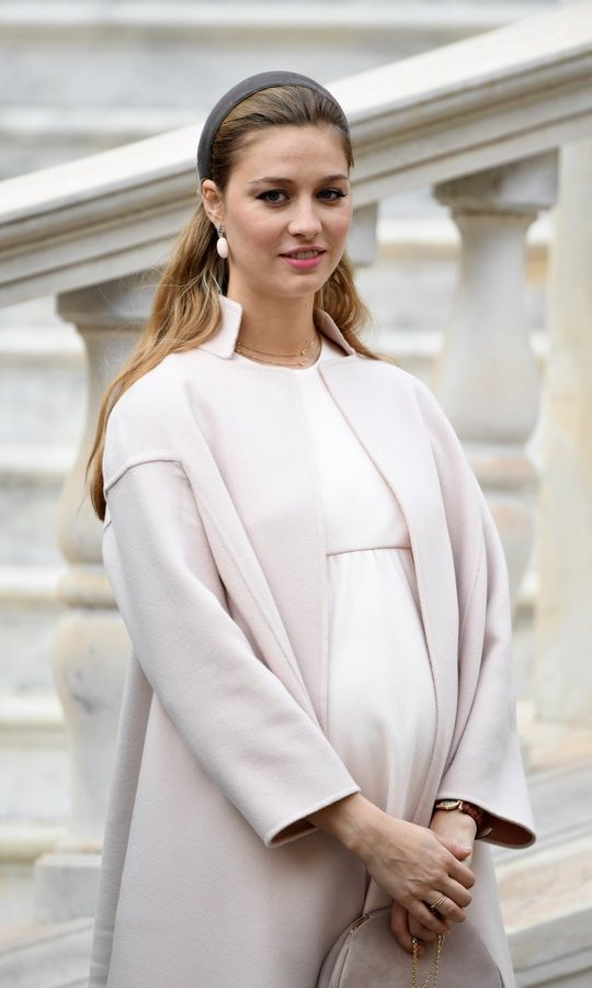 The appearance was Beatrice's first since it was revealed earlier this month that she and husband Pierre Casiraghi are expecting their first baby.