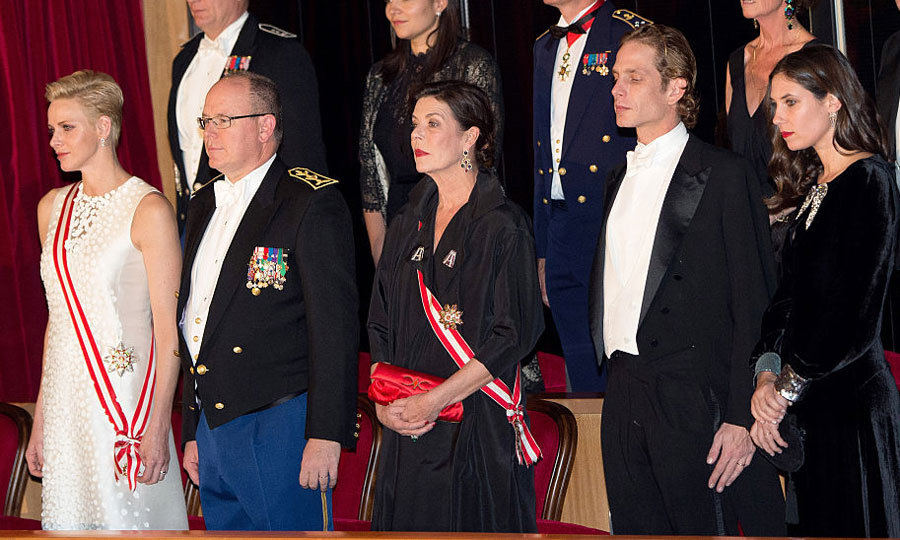 The Monaco royal family - Princess Charlene, Prince Albert, Princess Caroline, Andrea Casiraghi and Tatiana Santo Domingo – were out in full force for the gala.
