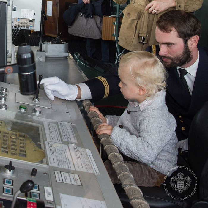 All hands on deck! Princess Gabriella's brother toured the frigate of the French Marine Nationale.