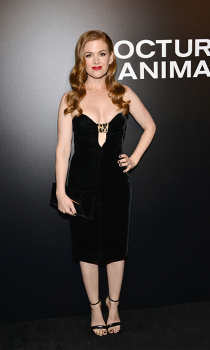 Isla Fisher unleashed her inner bombshell for the screening of Focus Features' <I>Nocturnal Animals</I> at Hammer Museum in Westwood, California. 