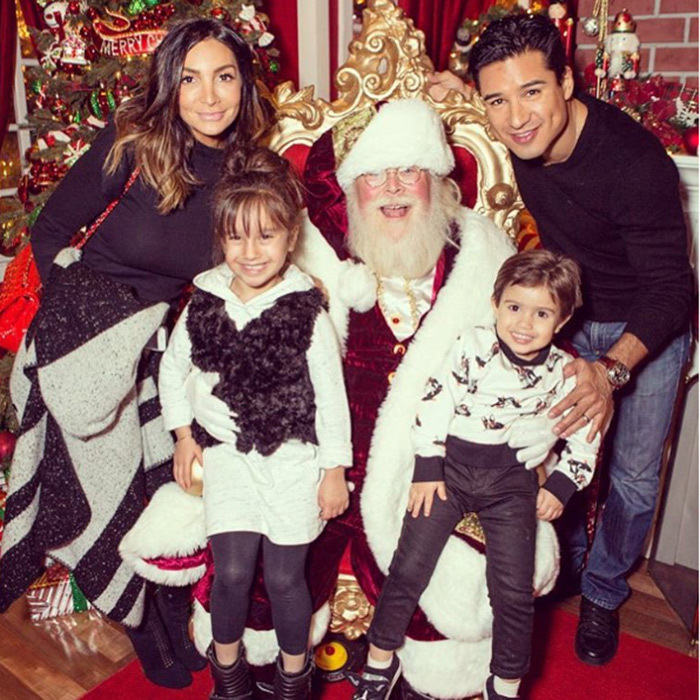 "Ho ho ho! <a href=""http://us.hellomagazine.com/tags/1/mario-lopez/""><strong>Mario Lopez</strong></a> and his family have already visited Santa Claus. 