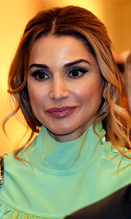 "<a href=""http://us.hellomagazine.com/tags/1/queen-rania/""><strong>Queen Rania of Jordan</strong></a> opted for glossy lips and a smoky eye at Government House in Canberra on November 23. 