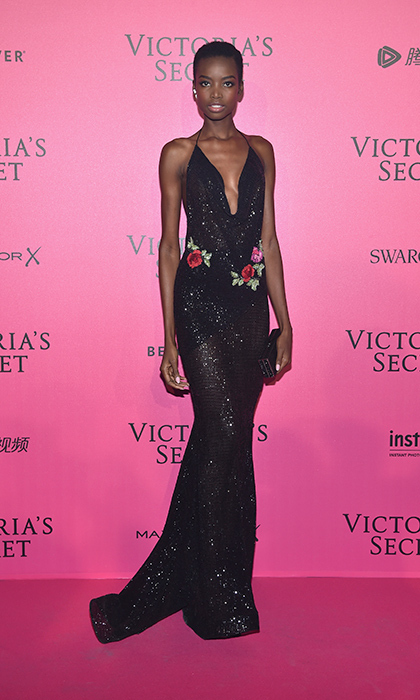 November 30: Maria Borges glittered for the 2016 Victoria's Secret Fashion Show after party in Paris. 
