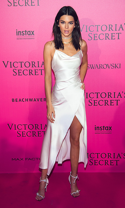 November 30: Kendall Jenner looked flawless in a crisp white gown for the 2016 Victoria's Secret Fashion Show after party in Paris. 